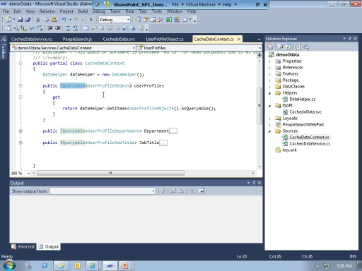 Leveraging oData using the built-in SharePoint 2010 data factory