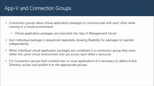 Configuring A Connection Group
