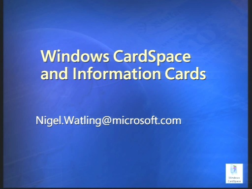 VS2008 Training Kit: Integrating Windows CardSpace