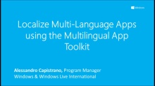 Localize Multi-Language apps using the Multilingual App Toolkit