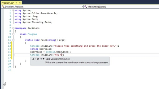 C# Fundamentals for Absolute Beginners: (07) Branching with the if Decision Statement and the Conditional Operator