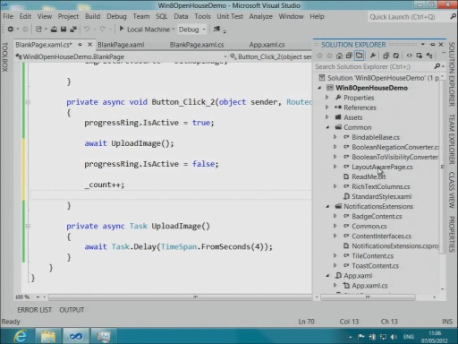 Windows 8 Camp: Building Metro-style Apps with XAML and C# - Part 2