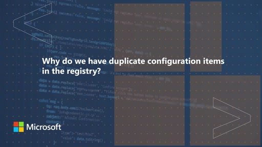 Why do we have duplicate configuration items in the registry | One Dev Question