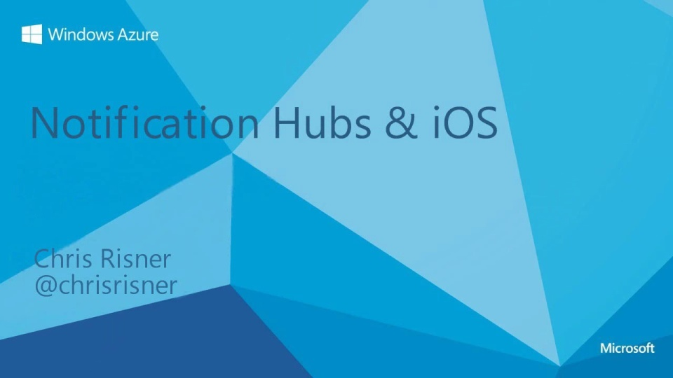 Notifications Hubs with iOS