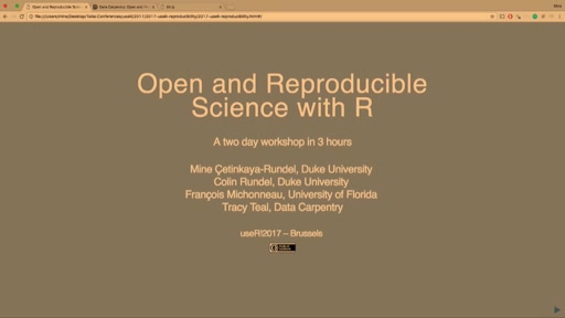 Data Carpentry: Open and Reproducible Research with R