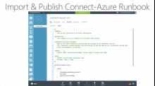 (Module 3) Importing and Publishing a Connect-Azure Runbook