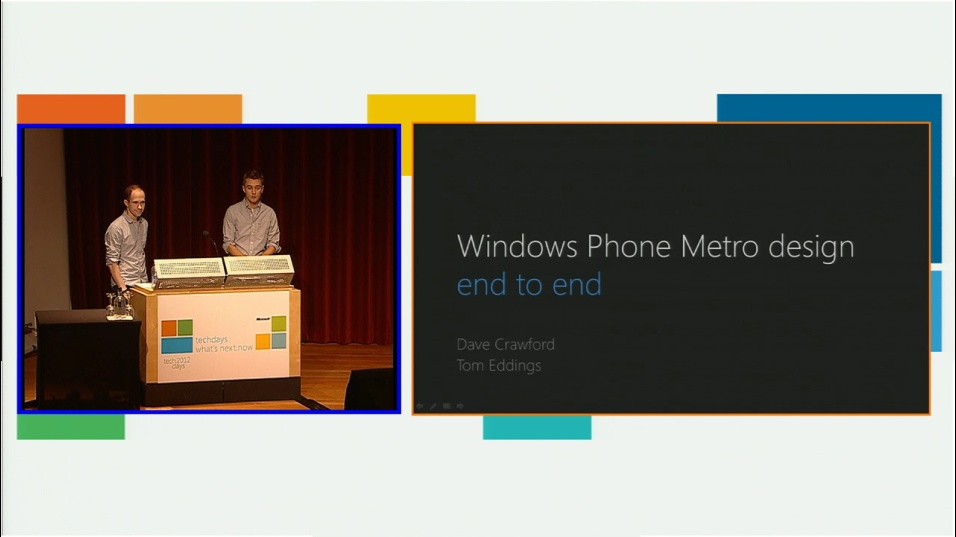 Windows Phone Metro Design Session End-to-End