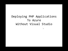Deploying PHP Applications to Windows Azure without Visual Studio