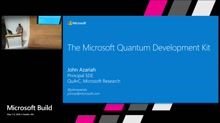 Learn to build your first quantum solution with the Quantum Development Kit and Q#