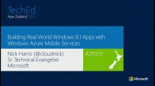 Building Real World Windows 8.1 Apps with Windows Azure Mobile Services