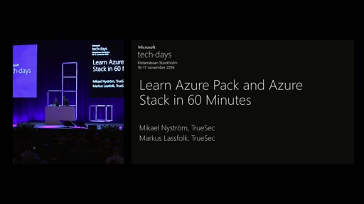 Learn Azure Pack and Azure Stack in 60 Minutes
