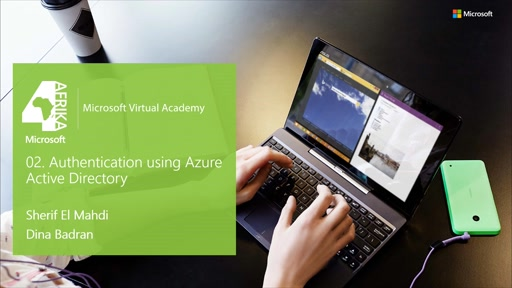 Authentication using Azure Active Directory in Arabic