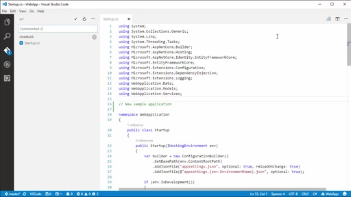 Visual Studio Code: source control with Git on Visual Studio Team Services