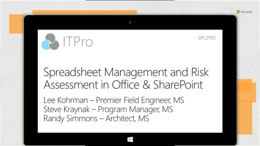 Overview: spreadsheet management and risk assessment in Office and SharePoint 2013