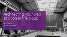 Architecting your web solution in the cloud (en)