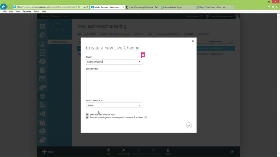 Getting Started with Azure Media Services