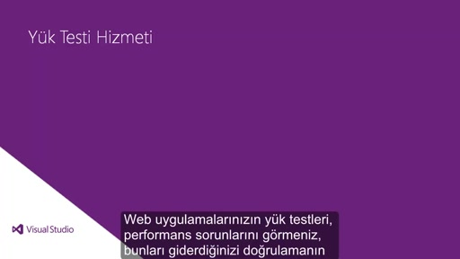 Visual Studio 2013 Ultimate: Bulut Yük Testi