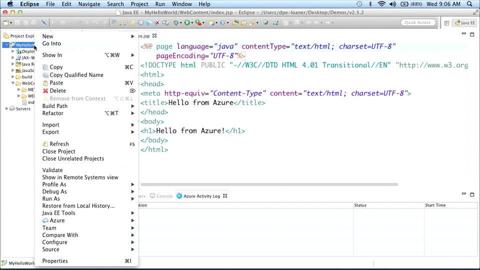 Java on Microsoft Azure: (01) Java on Azure