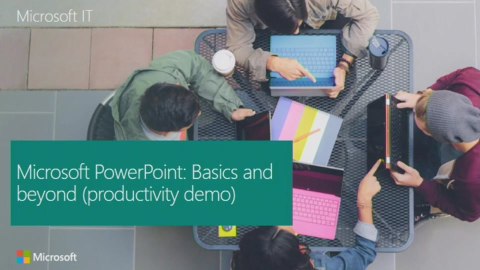 Microsoft PowerPoint: Beyond the basics (productivity demo)