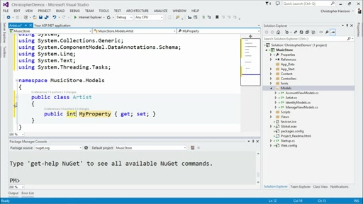 Implementing Entity Framework with MVC: (02) Beginning Code First