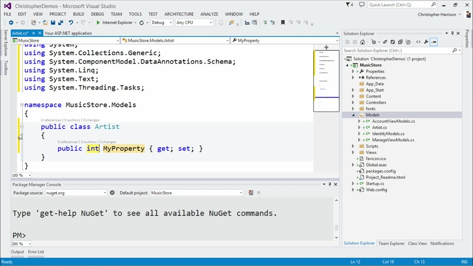 Implementing Entity Framework with MVC | Channel 9