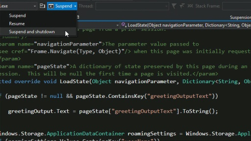 C# Part 2: Manage app lifecycle and state