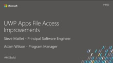 UWP Apps file access improvements