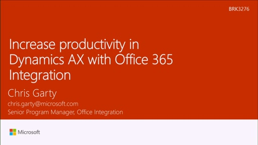 Increase productivity in Dynamics AX with Office 365 Integration