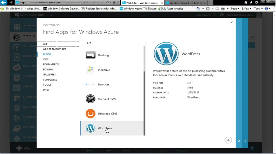 TechNet Radio: IT Time - How to Create a WordPress site with Windows Azure Web Sites