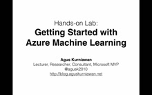 01 Agus Kurniawan - Azure Machine Learning