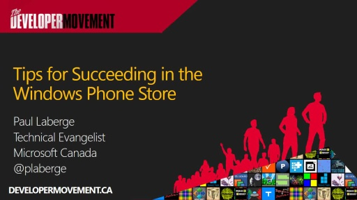 Succeeding in the Windows Phone Store (and others, too!)