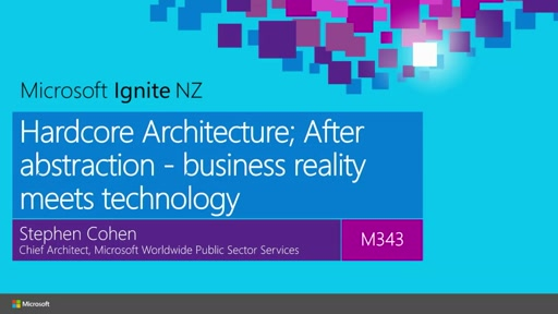 Hardcore Architecture; After abstraction - business reality meets technology