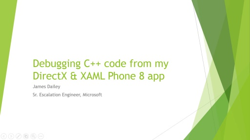 Debugging the Visual Studio Direct3D template for Windows Phone 8