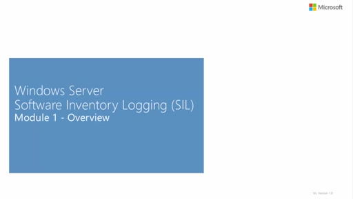 An Introduction to Software Inventory Logging (SIL)