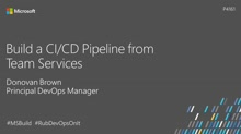 Build a CI/CD pipeline from Visual Studio Team Services