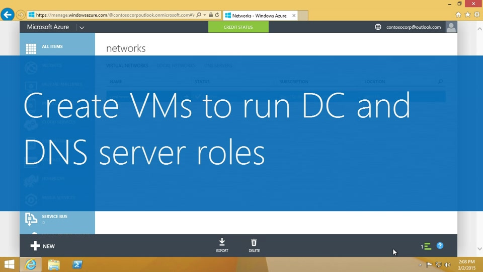 Create VMs to run Domain Controller and DNS server roles
