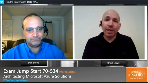 (Part 3) Exam Jump Start 70-534 Prerequisites: Architecting Microsoft Azure Solutions