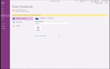 Section 7: Sharing the OneNote Notebook