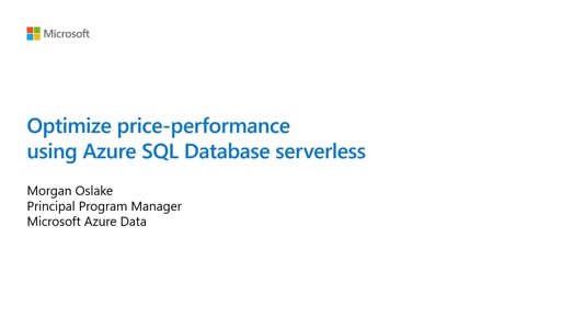 Optimize price-performance using Azure SQL Database serverless
