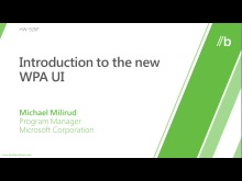 Introduction to the new WPA user interface