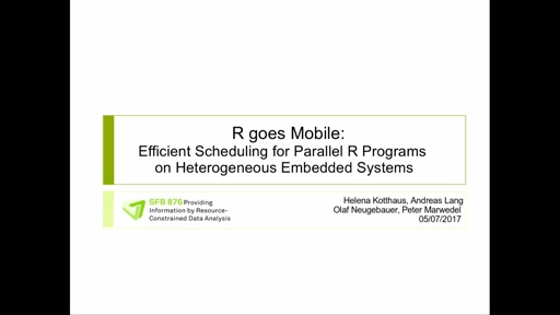 R goes Mobile: Efficient Scheduling for Parallel R Programs on Heterogeneous Embedded Systems