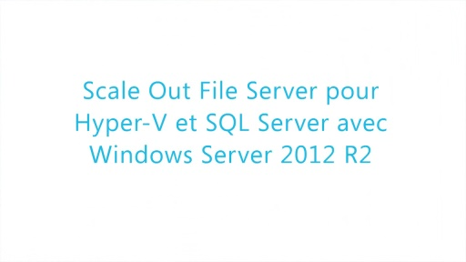 Stockage dans Windows azure - SOFS et Datadeduplication avec Windows Server 2012 R2