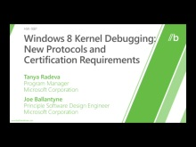 Windows 8 kernel debugging: New protocols and certification requirements