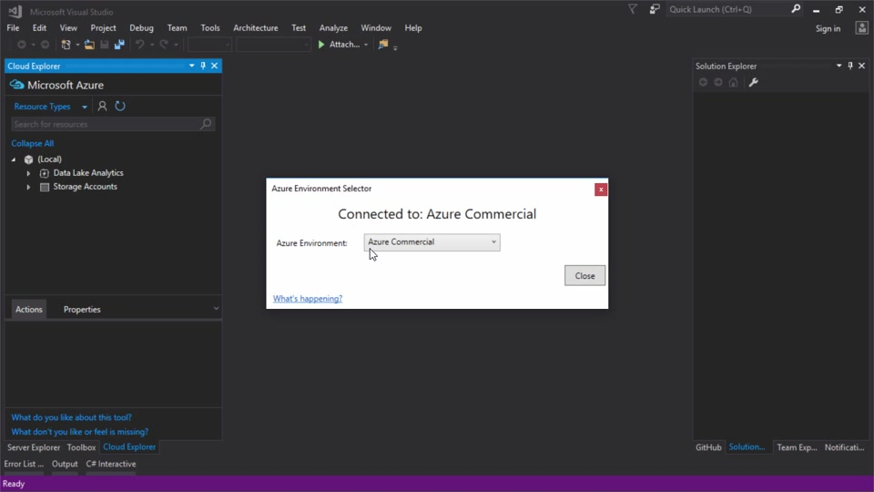 Azure Environment Selector Visual Studio Extension