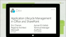 Application lifecycle management in Office and SharePoint