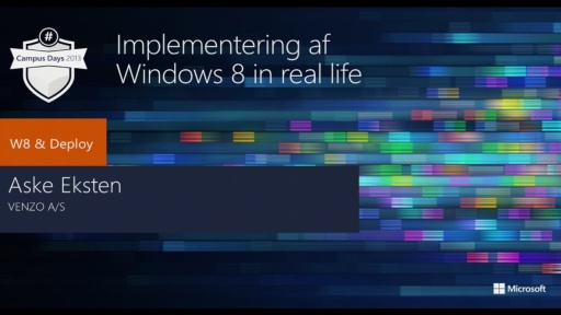 Implementering af Windows 8 in real life