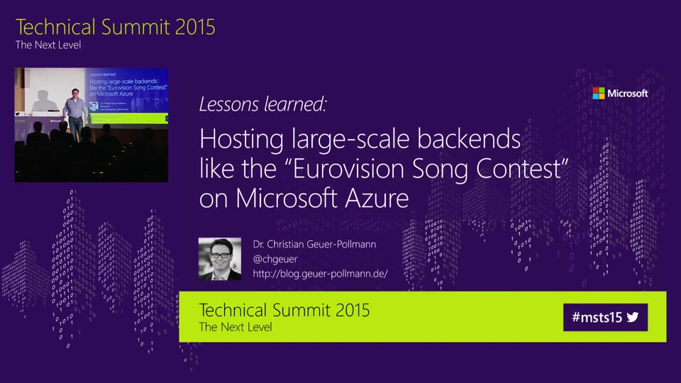 "Lessons learned - Hosting large-scale backends like the ""Eurovision Song Contest"" on Microsoft Azure"