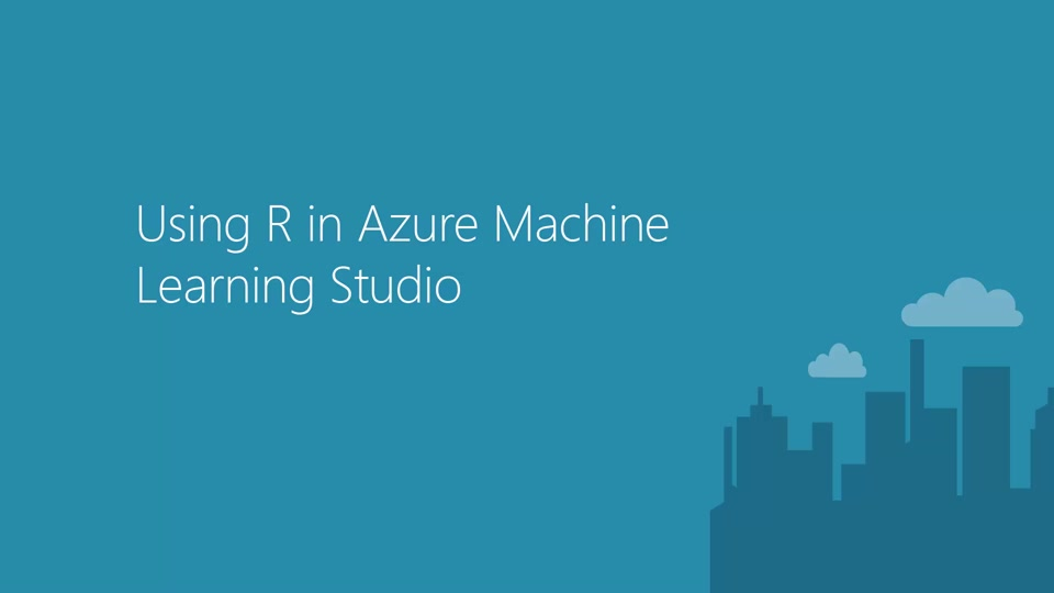 Using R in Azure Machine Learning Studio