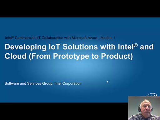 Developing IOT solutions with Intel and Azure Part 1