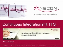 Development:From Mystery to Mastery - Session 3 - Continuous Integration mit TFS